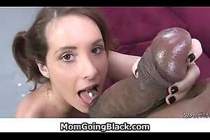 MomGoingBlack.com - Milf Interracial Sexual connection - Hardcore broad in the beam cock fucking 26