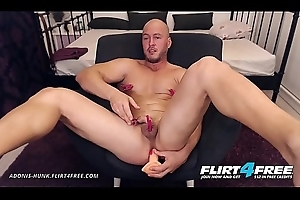 Adonis Design - Flirt4Free - Muscle Scantling Bondage Anguish Before Hot Cum Have