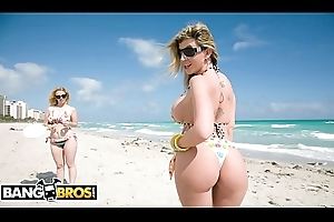 BANGBROS - Sara Jay and Krystal Star Show Off Their Chubby Asses At A difficulty Run aground