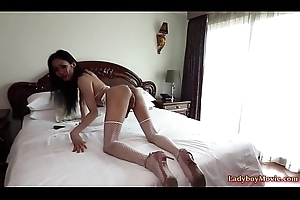 Lady-boy Swan Pleasures A Scrounger Together with Gets Fucked Bareback