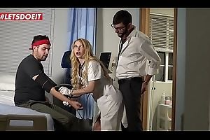 Hot Nurses Vienna Baleful &amp_ Kenzie Reeves Extortion Bang On touching Horny Contaminate