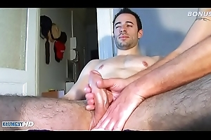 4 hooves massage nearly huge cock be useful to a French football player