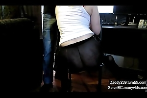 SlaveBC acquires caned while typing