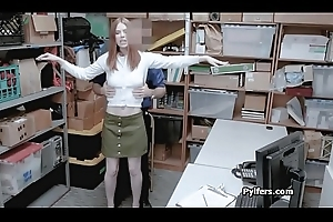 Cute redhead housebreaker drilled unconnected with mall mainstay