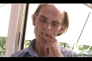 Grey husband wait for person licks and fucks her shaved young bawdy cleft