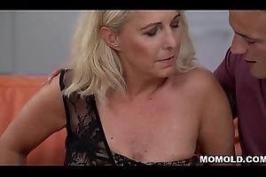 Blonde mature together with say no to youthful lover