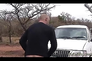 sexy african spoil picked set in place car copulation