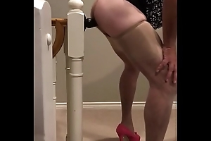 Broad on touching the beam sex toy fucking on touching heels