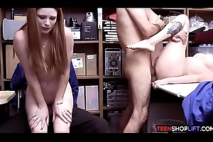 Redhead MILF mom involves will not hear of legal age teenager nipper yon a villainy