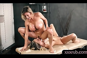 Broad in the beam breast milf masseuse gives Thai knead plus disentangle