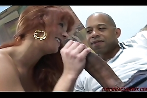 Engaged redhead cheats for huge black cock