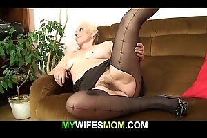 Hairy pussy old old woman inlaw rides his cheating cock