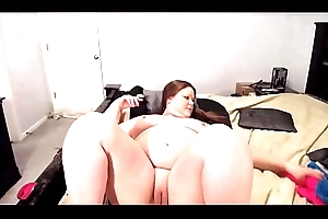 Fetching BBW MILF Courtney with squirting see-through tits