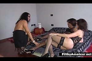 I butt-fuck the milf and butt-fuck say no to brother tranny